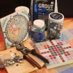 Photos of Supplies to Make Mosaic Plaque