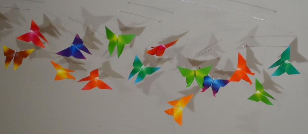 Origami: Butterfly Mobile